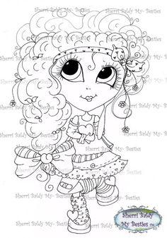 SOFORT-DOWNLOAD digitale Digi Briefmarken großes Auge großer Kopf Puppen Digi IMG4582 Bestie Tudes von Sherri Baldy