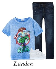 """""""Landen's OOTD"""" by thetotefamily ❤ liked on Polyvore featuring MANGO, adidas Originals, men's fashion and menswear"""