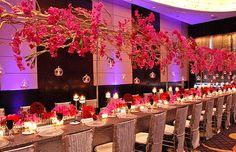 hanging flower arrangement