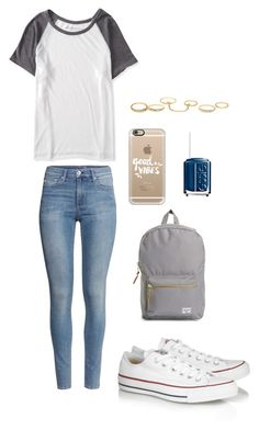 """""""Untitled #121"""" by crazyperson456 ❤ liked on Polyvore featuring Aéropostale, Essie, H&M, Casetify, Charlotte Russe, Converse and Herschel Supply Co."""