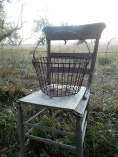 Antique Wire Egg Basket