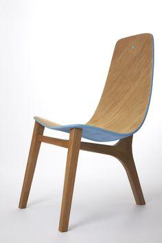 Paul Venaille; Oak 'Baby Blue' Chair, 2013.