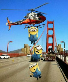 It's a minion helicopter rescue, stay safe!