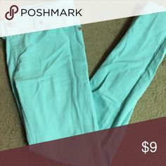 Mint Green Wetseal stretchy jegging Very comfortable jegging jeans in mint green ! Jeans Straight Leg