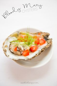 Bloody Mary Oysters- these are so delicious and perfect for a brunch party!