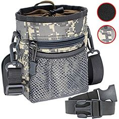 Black Adjustable Extra Long Waist Belt Dog Training Pouch with Clip Small Portable Toys Treats Keys Phone Carrier for Pet Walking Morezi Dog Treat Pouch