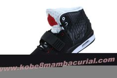 2013 Nike Air Yeezy II Men Shoes Black White Red  Soldier