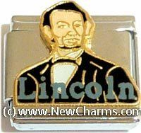 Lincoln Italian Charm Bracelet Jewelry Link New Charms. $12.99. Standard 9mm size.. High quality Italian Charm.. Combine with other Italian Charms to show your style.. Compatible with all major brands of Italian Charms.
