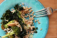 Roasted Broccoli and Kale Salad. Get the recipe and more @ How to Ice a Cake!