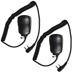 HQRP 2Pack 2 Pin PTT Mini Speaker Mic for Kenwood TK3360 TK3400 TK3402 TK5220  HQRP UV Meter * Check this awesome product by going to the link at the image.