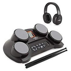 Shop for Electronic Drum Pads Pack By Starting from Choose from the 2 best options & compare live & historic percussion instrument prices. Drum Chair, Drum Table, Electronic Drum Pad, Drum Drawing, Rhythm Games, Drum Lessons, Cheap Pendant Lights, Learn Faster, Drum Kits
