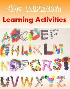 45 Alphabet learning activities #LearnActivities
