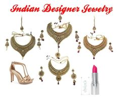 Indian Designer Jewelry by mogul-interior on Polyvore featuring Tory Burch and modern