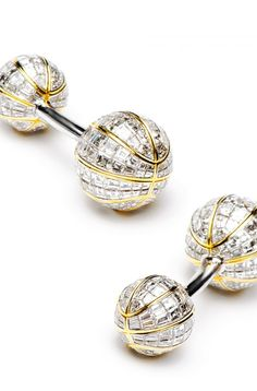 Most Expensive Cufflinks in the World TOP 10 Jacob & Co Baguette Diamond Double ended Basketball Cufflinks Expensive Watches, Most Expensive, Emerald Cut Diamonds, Diamond Cuts, White Diamonds, Designer Cufflinks, Groom Accessories, Luxury Watches For Men, Well Dressed Men