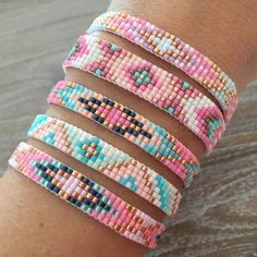 Beads-armbandje 'Lovely Pastels' - Mint15