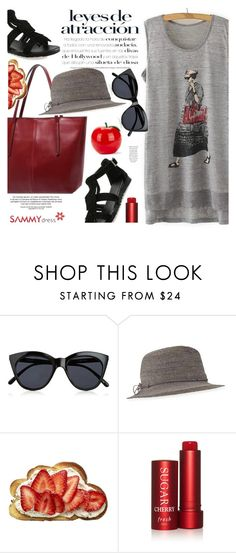 """Morning shopping"" by ansev ❤ liked on Polyvore featuring Le Specs, Helen Kaminski, Fresh and Tony Moly"