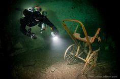 Cool picture!  Kőbánya Mine Diving in Budapest, Cave Diving http://www.titanbuvar.hu/diving-in-the-flooded-cellars-of-kobanya-budapest/  (Photo by Danie... - Kobanya Mine Diving Budapest - Google+