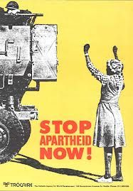 """The Anti-Apartheid movement was a very big part of the book. """" For it is for that freedom that many of our own African soldiers have been fighting."""""""