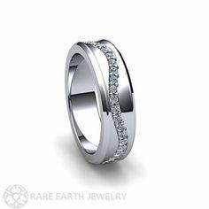 Platinum+Diamond+Wedding+Band+Diamond+Eternity+Band+by+RareEarth
