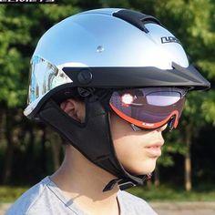 55-62cm Motorcycle Helmet Half Helmet Unisex Riding Safety Crash Helmet DOT//ECE Certified Scooter Bicycle Cruiser Pilot Jet Helmet Open Helmet With Sun Visor