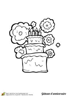 Un joli gâteau d'anniversaire pour les 4 ans de bébé qu'il peut colorer