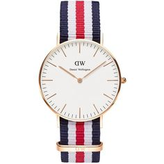 Daniel Wellington Women's Classic Canterbury Rose Gold and NATO Strap... (245 NZD) ❤ liked on Polyvore featuring jewelry, watches, rose gold, red gold jewelry, rose gold jewellery, rose gold jewelry, pink gold jewelry and polish jewelry