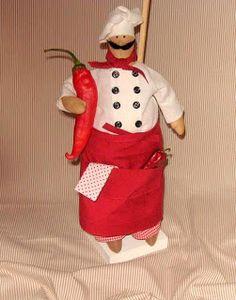 Mimin Dolls: Tilda chefe de cozinha / tutorial