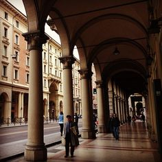 """""""Another reason to love Bologna is that you can walk almost anywhere in the city on a rainy day and not get wet. These colonnades spread throughout most of the city center, making it feel like a giant cloister. Very unique!! """" - Instagram by @Norbert Figueroa"""