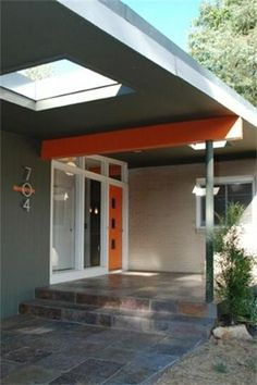 Which orange for a Mid-Century Modern front door in Beaumaris?