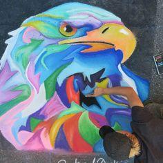 Great work today by @shadowking #sidewalkchalk #chalkart #gachalkartists #atlstreets #atlstreetsalive