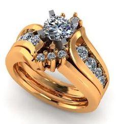 Yellow gold women's wedding set. Double wedding bands.  #seneedhamjewelers #loganutah 116707A