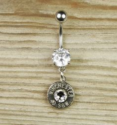 Winchester bullet belly button ring