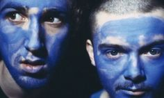 Daft Punk blue face