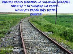 Subete al tren #citas #oportunidad #robertoyelva #frase #solucion