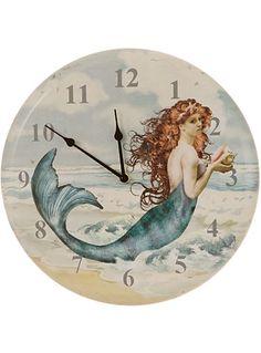 Victorian Mermaid Wall Clock at PLASTICLAND