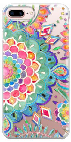 Casetify iPhone 7 Plus Case and iPhone 7 Cases. Other Rainbow Print iPhone Covers - Color Celebration Mandala by Micklyn Le Feuvre | Casetify
