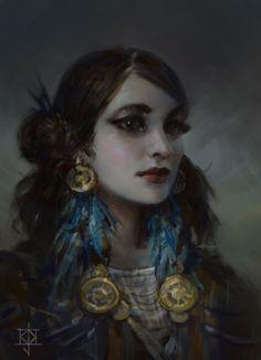 Portrait of a girl by KJKallio.deviantart.com on @DeviantArt