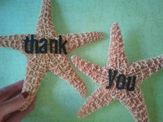 Starfish to hold for pictures during wedding day. Then use the pictures for thank you cards! Love my beach wedding!