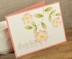 Thanks So Much Card by Nichole Heady for Papertrey Ink (December 2012)