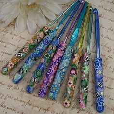 polymer clay crochet hooks....how did they do that???