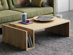 Nordic American country minimalist pure ecological wood wax wood furniture retro coffee table a few Japanese side(China (Mainland))