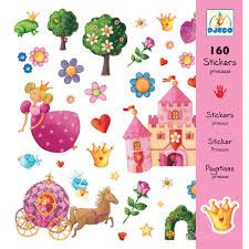Djeco Stickers Princess Margeurite has a multitude of fairytale images all themed around traditional fairy tales! Beautifully illustrated, this Djeco Kids Stickers, Custom Stickers, Nature Rose, Traditional Fairy Tales, Cheap Toys, Maneki Neko, Creative Kids, Ideas, Pink