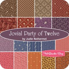 Jovial Party of Twelve Fat Quarter Bundle Judie Rothermel for Marcus Brothers Fabrics - Fat Quarter Shop
