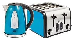 Swan SK13110B/ST70100B Fastboil Kettle and 4-Slice Toaster Pack - Blue