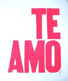 Palabras de Amor y de Aliento  .... Te amo