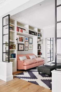 Modern home decorating ideas: 18 striking design ideas worth copying | Livingetc Small Living Rooms, Living Room Designs, Living Room Decor, Living Room Divider, Decor Room, Modern Living, Home Interior, Interior Design, Built In Sofa