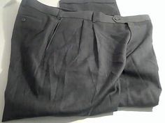 Stafford Ease W46 Mens Dress Gray  Pants Wool Polyester  Tag $70 #StaffordEase #DressFlatFront