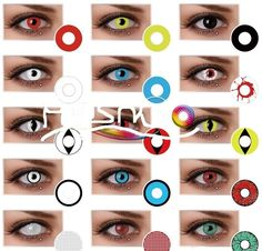 halloween 90 days 5 colored contacts non prescription