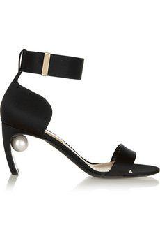 Nicholas Kirkwood Embellished silk-satin sandals | NET-A-PORTER