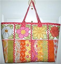 Bloomin' Tote (PJ1081) Embroidery Design Collection by PJ Designs
